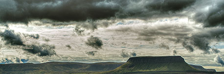 sky over Benbulbin
